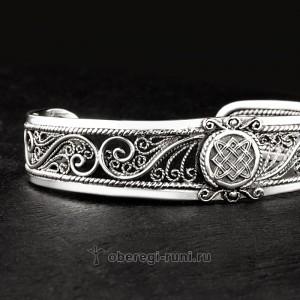славянский оберег браслет из серебра