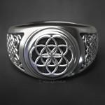 Кольцо Цветок Жизни