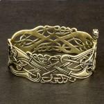 славянский браслет из латуни