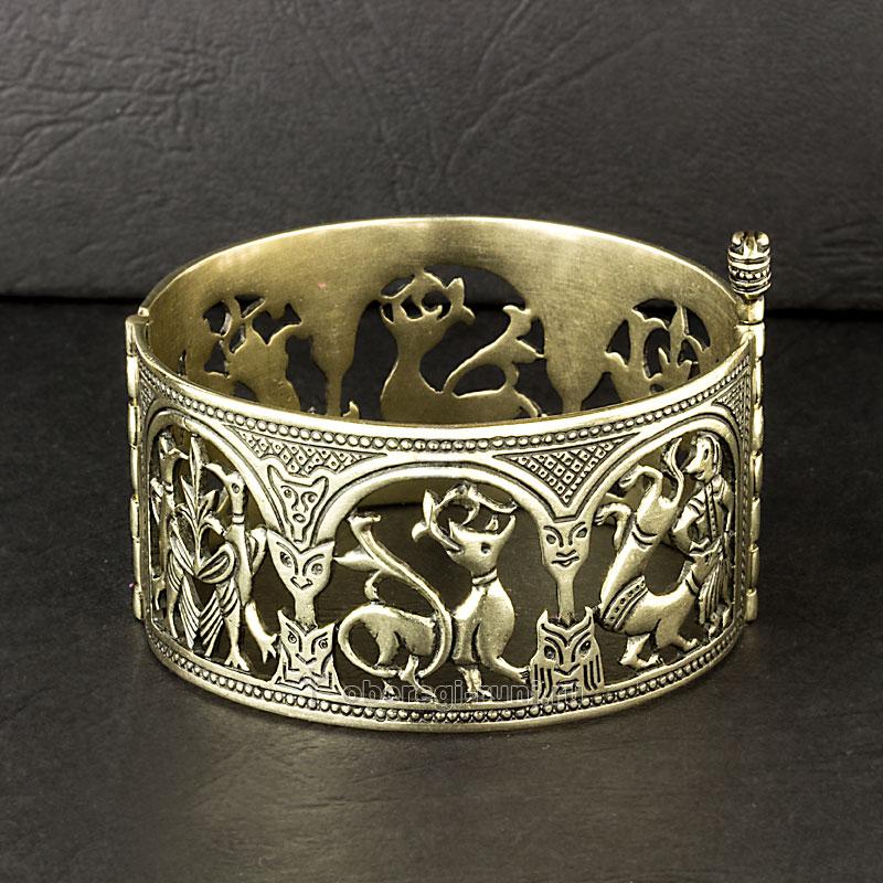 славянский браслет из серебра