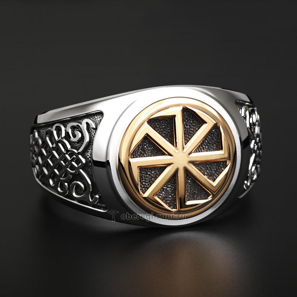Кольцо Коловрат. Серебро с золотом