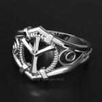 Кольцо-оберег с руной Альгиз