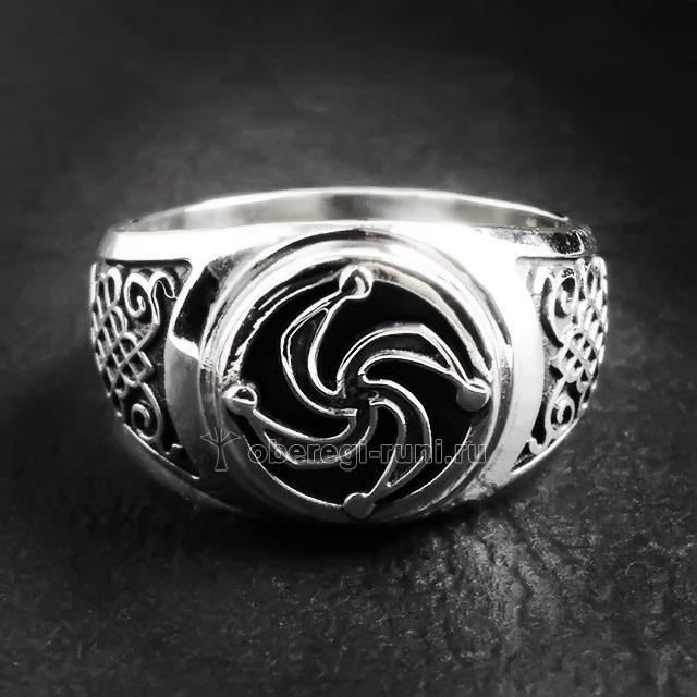Перстень с символом Рода. Серебро