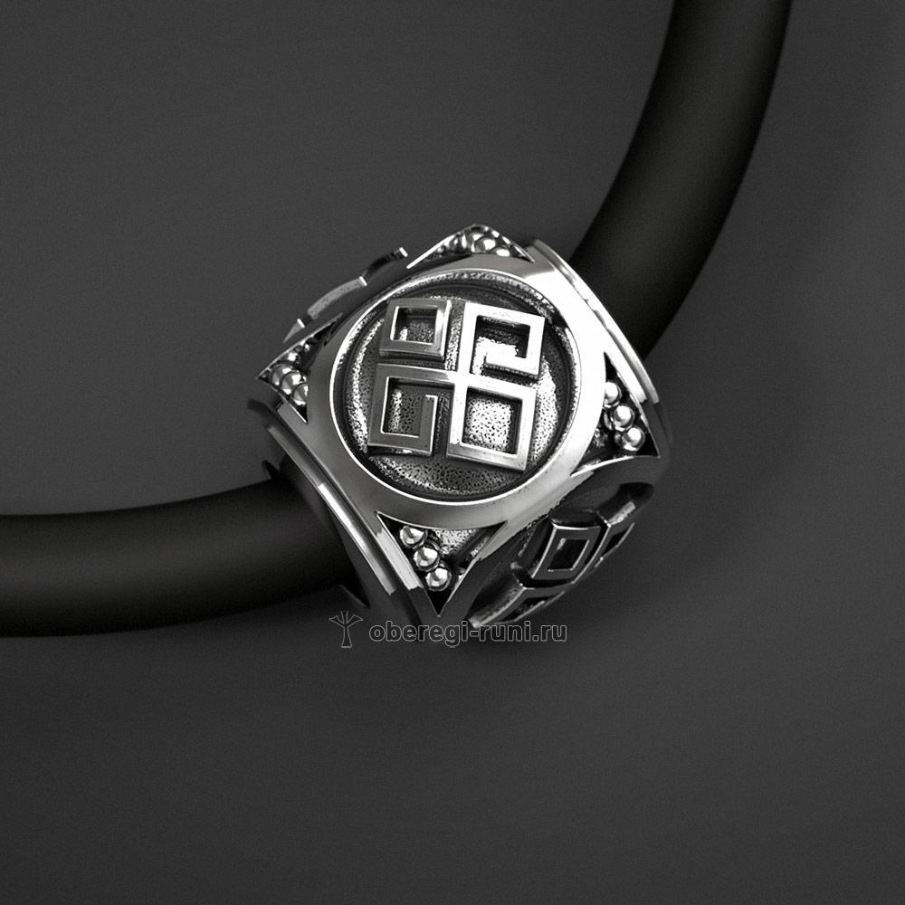 Славянский шарм Даждьбог (бусина). Серебро