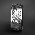 Кольцо крест Мары. Серебро