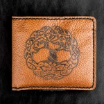 Кожаный кошелек ручной работы - Древо жизни
