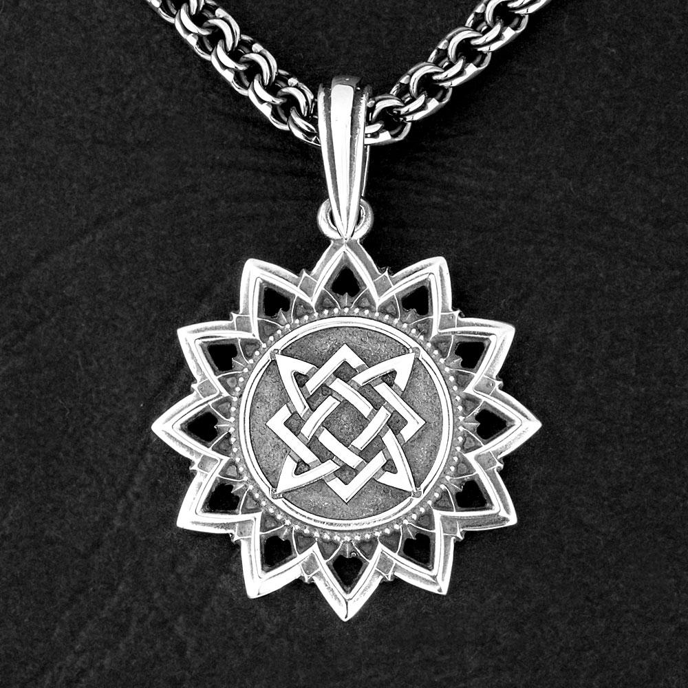 Квадрат Сварога - оберег из серебра