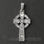 Кельтский крест из серебра (ks-016)