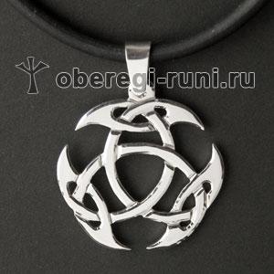 Знак кельтского бога Луга из серебра
