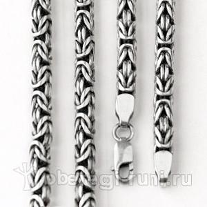 серебряная византийская цепь