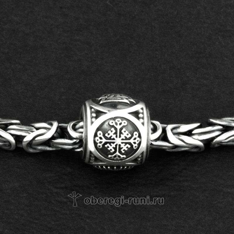 Крест непобедимости, гальдрастав из серебра