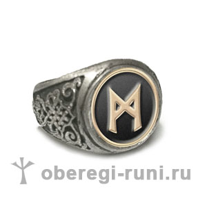 Кольцо с руной Маннас