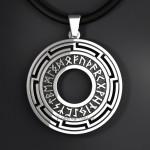 Медальон Рунический круг. Серебро
