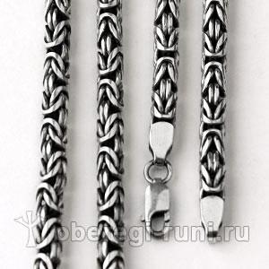 Цепь серебро византийское плетение