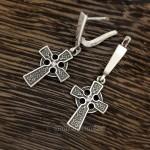Серьги Кельтский крест - серебро