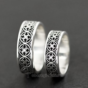 славянские кольца свадебники