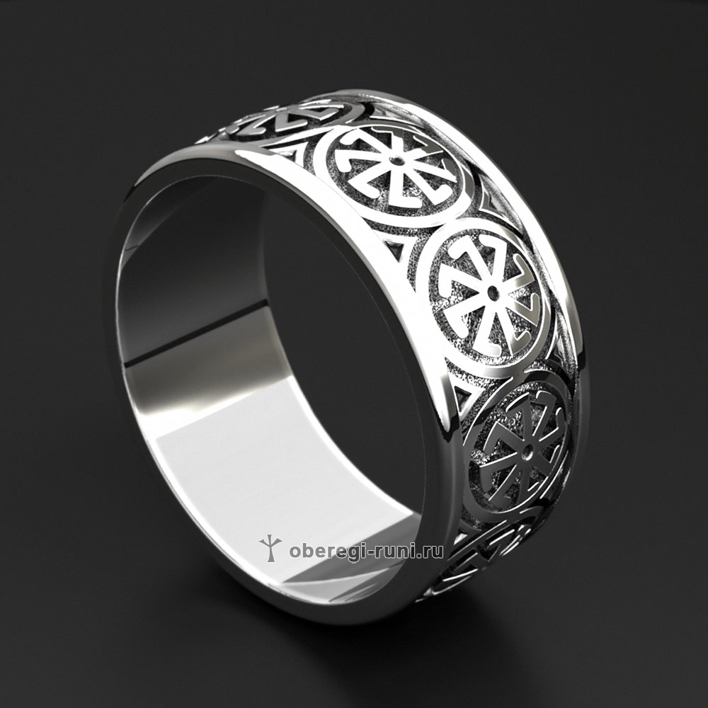 Кольцо-оберег Колядник. Серебро