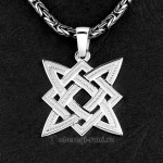 звезда руси из серебра, славянский оберег