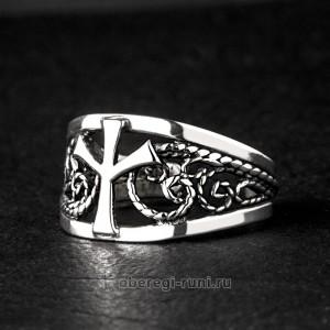 кольцо оберег из серебра