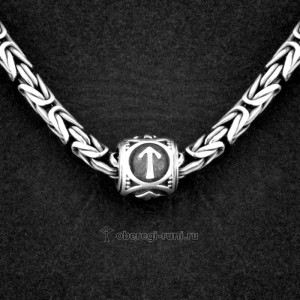 шарм руна тейваз - theiwaz rune silver