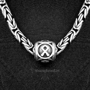 шарм с руной одал серебро odal rune