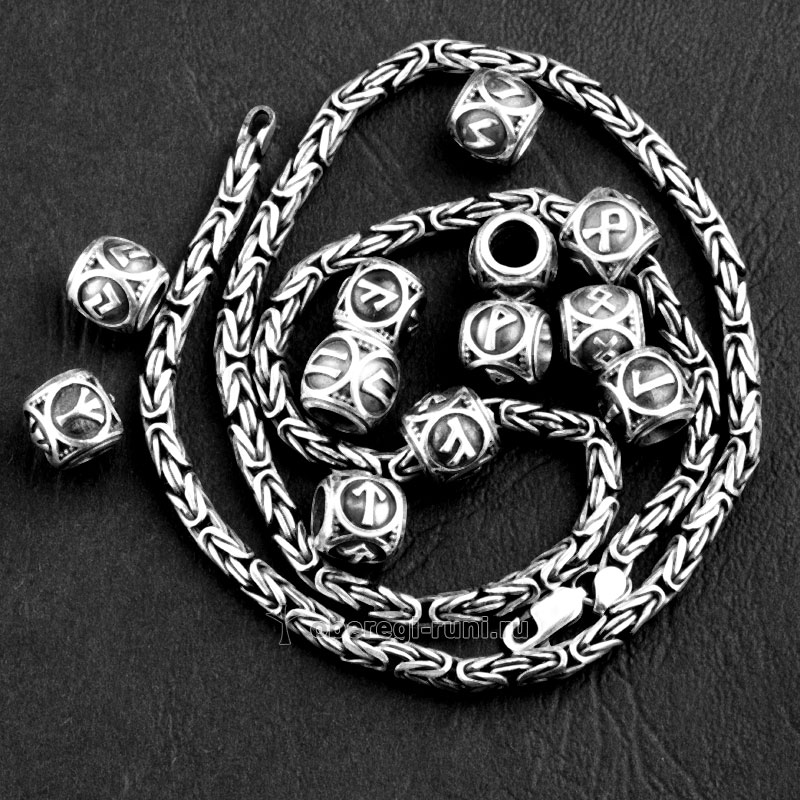 браслет из серебра для шармов