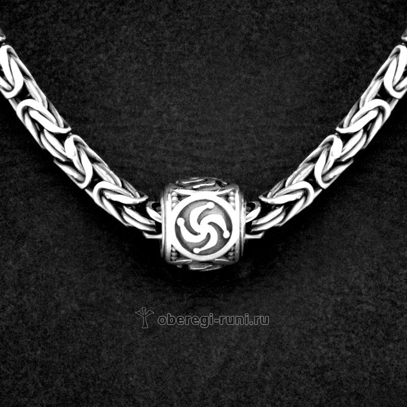 оберег шарм символ рода из серебра