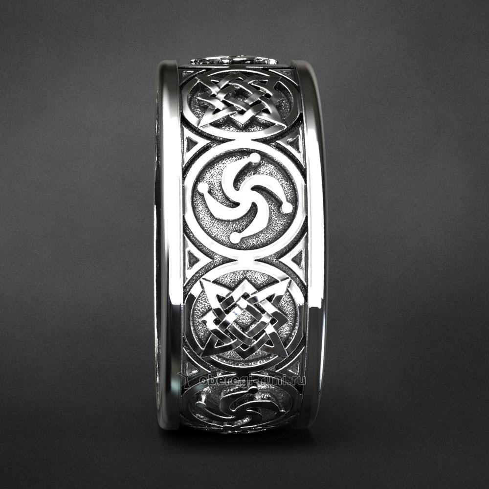 Кольцо Звезда Руси символ Рода. Серебро