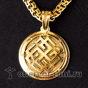 Сварожич богатырский из золота