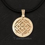 Славянский оберег из золота Белобог