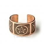 кольцо пентаграмма