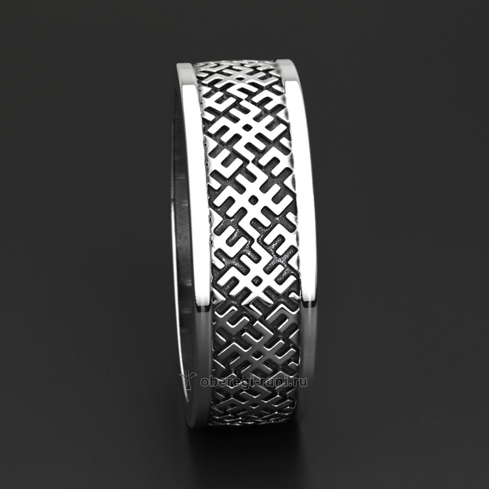 Кольцо-оберег Сварог. Серебро