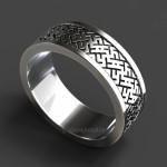 Кольцо-оберег Цветок Папоротника. Серебро