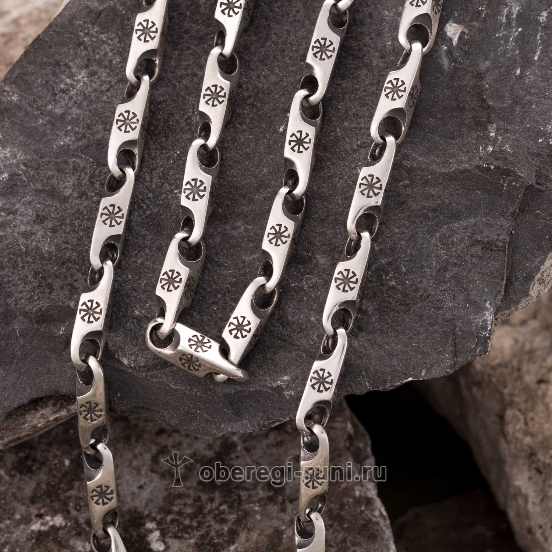 цепь из серебра с колядниками