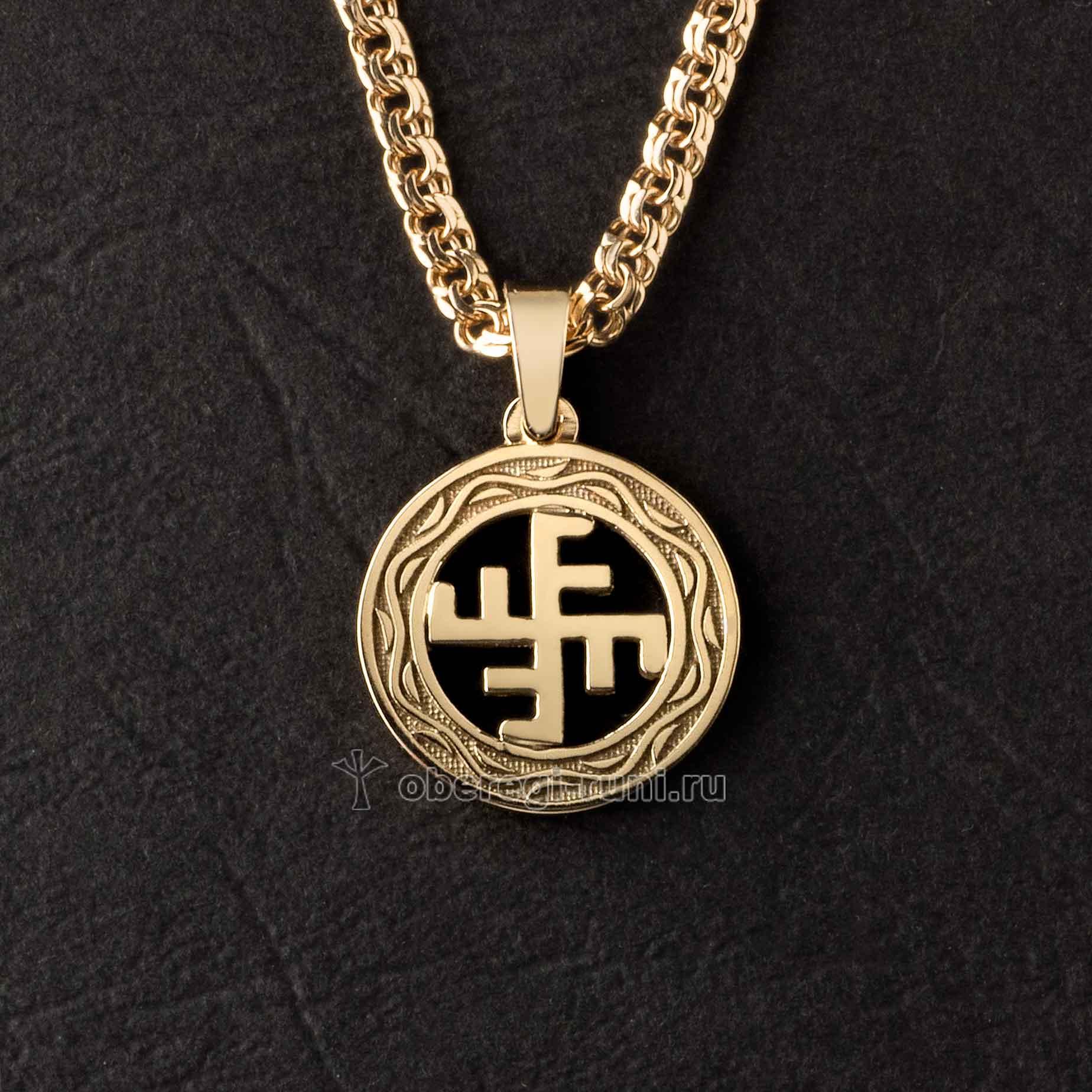 Солнечный крест золото
