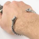 браслет мужской серебро