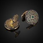 запонки серебро кельтские