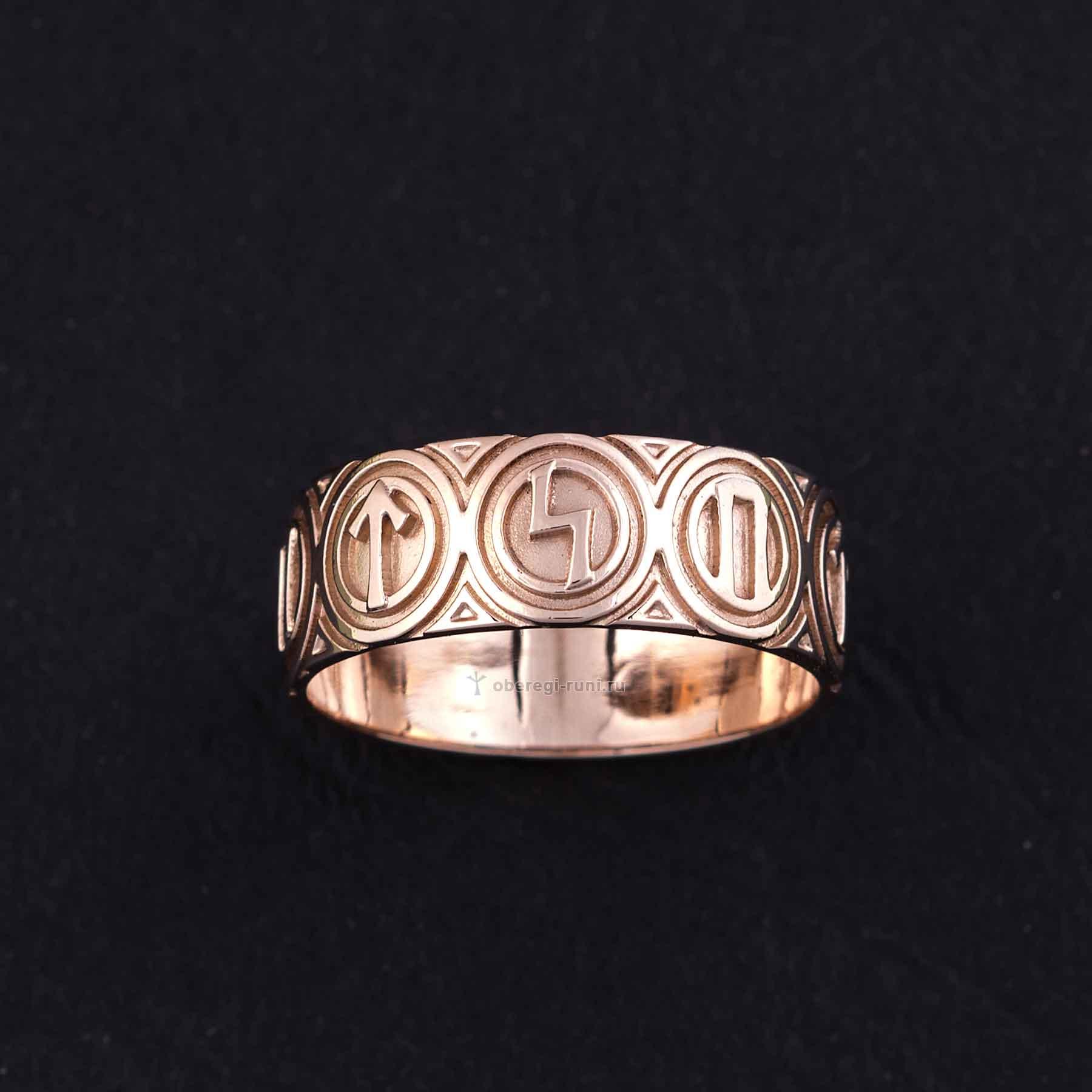 кольцо руны золото