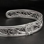славянский браслет серебро