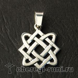 Оберег звезда Лады-богородицы (18-19мм) серебро