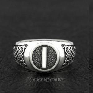 кольцо с руной иса