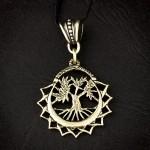 дерево жизни амулет из латуни