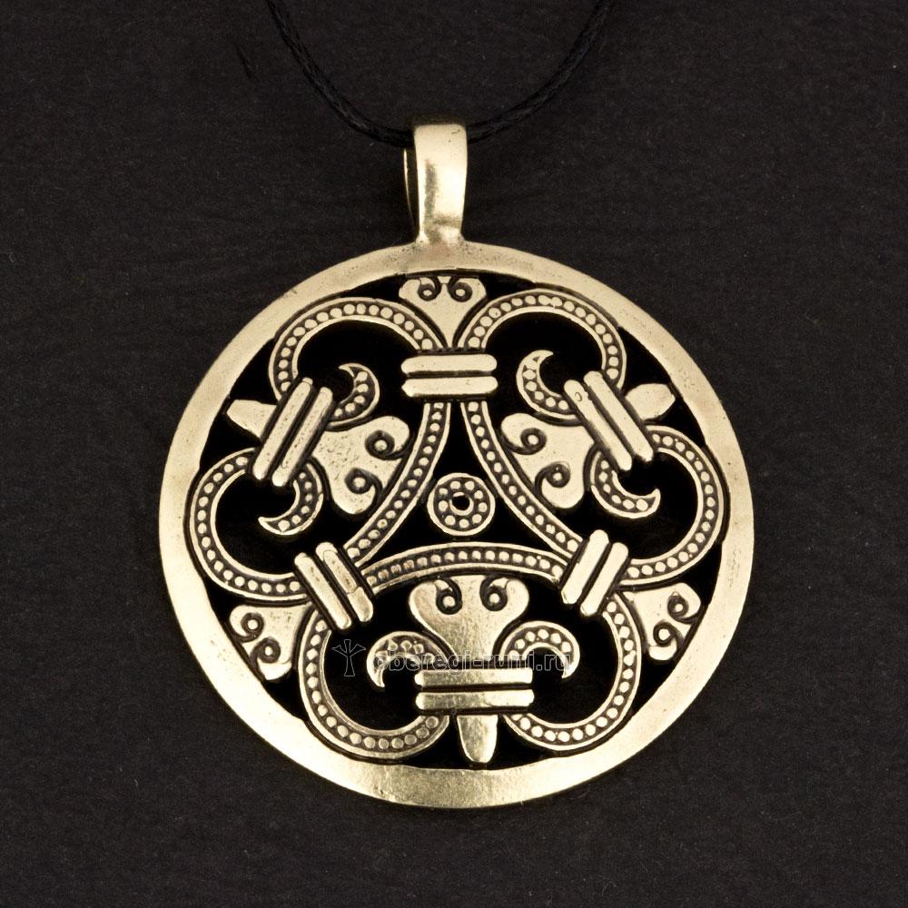кельтский щит из латуни