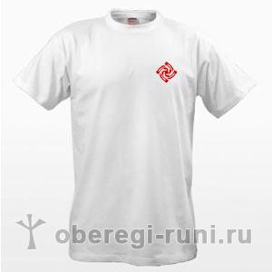 Белая футболка с оберегом Знич