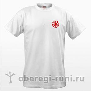 Белая футболка с оберегом Колядник
