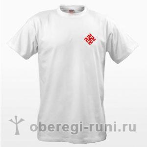 Белая футболка с оберегом Одолень-трава