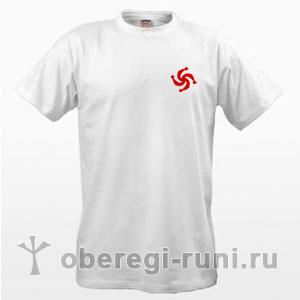 Белая футболка с символом Рода