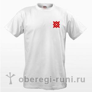 Белая футболка со звездой Руси