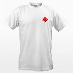 Белая футболка с оберегом Гаруда