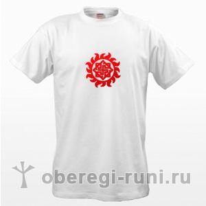 Белая футболка с Валькирией в Ярило